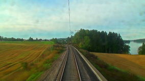 Driving the high speed train stock footage