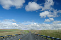 Driving in highway Stock Photography