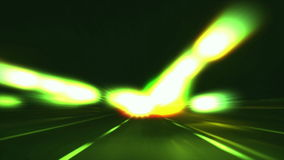 Driving in highway blur and glow stock video footage