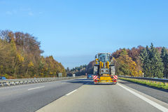 Driving the highway A3 early morning direction Cologne Stock Images