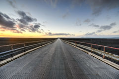 Driving Highway 1, Iceland Stock Images