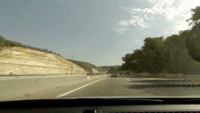 Driving on a highway in Israel stock footage