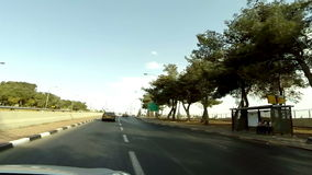 Driving on a highway in Jerusalem stock video