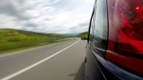 Driving on the highway in the mountains. stock video footage