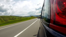 Driving on the highway in the mountains. stock footage