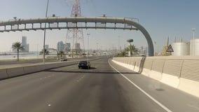 Driving On Highway Tunnel, Abu Dhabi stock video