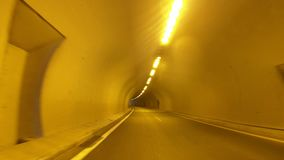 Driving on the Highway, Tunnel, Front View. In camera Stabilizer, No post editing, 4k video 3840X2160 stock video