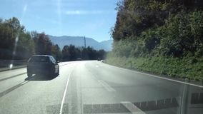 Driving on the highway from Vienna to Salzburg. stock video