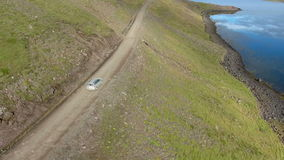 Driving on hillside stock footage