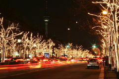 Driving home. For Christmas - Berlin by night