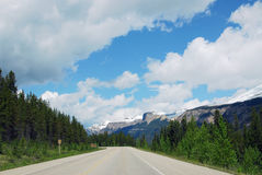 Driving in icefield parkway stock photos
