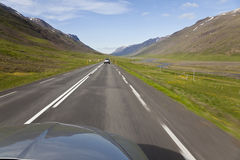 Driving Through Iceland Highlands Royalty Free Stock Image