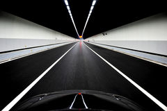 Driving inside a tunnel Stock Photos