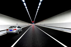 Driving inside a tunnel Royalty Free Stock Image