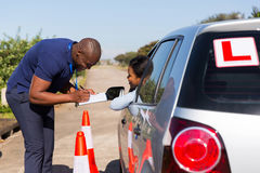 Driving instructor student Stock Images