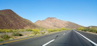 Driving on Interstate-10 Stock Image