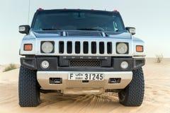 Driving on jeeps Desert Safari Stock Images