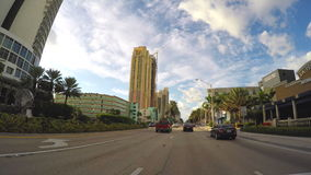 Driving on A1A stock footage
