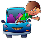 Driving kid Stock Photography