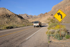Driving Through Lake Mead National Recreation Area Royalty Free Stock Photography