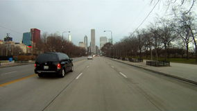 Driving on Lake Shore Drive in Chicago, Illinois stock footage