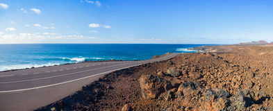 Driving in lanzarote. Royalty Free Stock Image