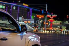 Driving through Las Vegas Strip, Nevada. Driving through Las Vegas Strip, Nevada, USA royalty free stock images