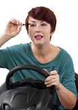 Driving and Late Stock Photography