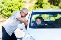 Driving lesson Royalty Free Stock Image