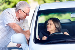 Driving lesson Royalty Free Stock Images