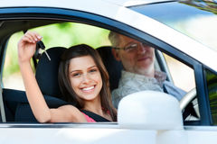 Driving lesson Royalty Free Stock Photos