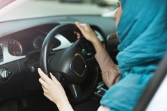 Driving lessons for lady concept stock photography