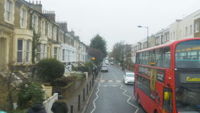 Driving Through London Neighborhood Streets in Fast Motion