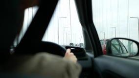 Driving on the long bridge. When going to awaji island of japan stock footage