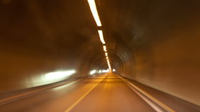 Driving through a long tunnel, timelapse. Shoot of driving through a long tunnel, timelapse stock video footage