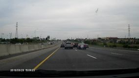Driving on major highway. stock video footage