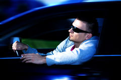 Driving man Royalty Free Stock Photo