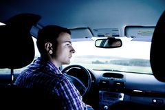 Driving man Royalty Free Stock Photos