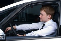 Driving man Royalty Free Stock Image