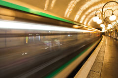 Driving Metro in motion blur Royalty Free Stock Photos