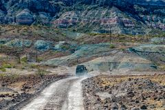 4x4 offroad in baja california landscape panorama desert road Stock Photos