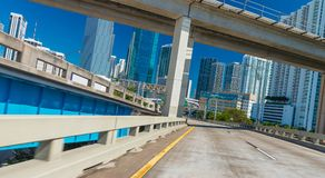 Driving through Miami on a sunnny day.  royalty free stock photo