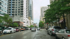 Driving from Michigan Avenue to South Loop in Chicago stock video footage