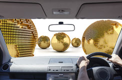Driving in the money world Stock Photography