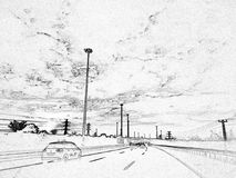 Monochrome Highway stock images
