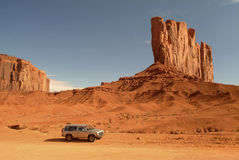 Driving through Monument Valley Royalty Free Stock Photography