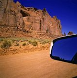 Driving in Monument Valley Royalty Free Stock Images
