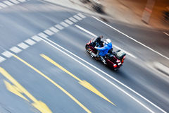Driving motorbike Royalty Free Stock Photography