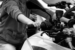 Driving Motorcycle Stock Photography
