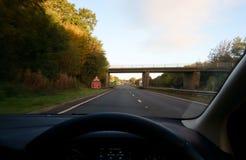 Motorway. Driving in a Motorway in England royalty free stock image